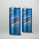 Beverage Can Sleek 250ml Mock-Up