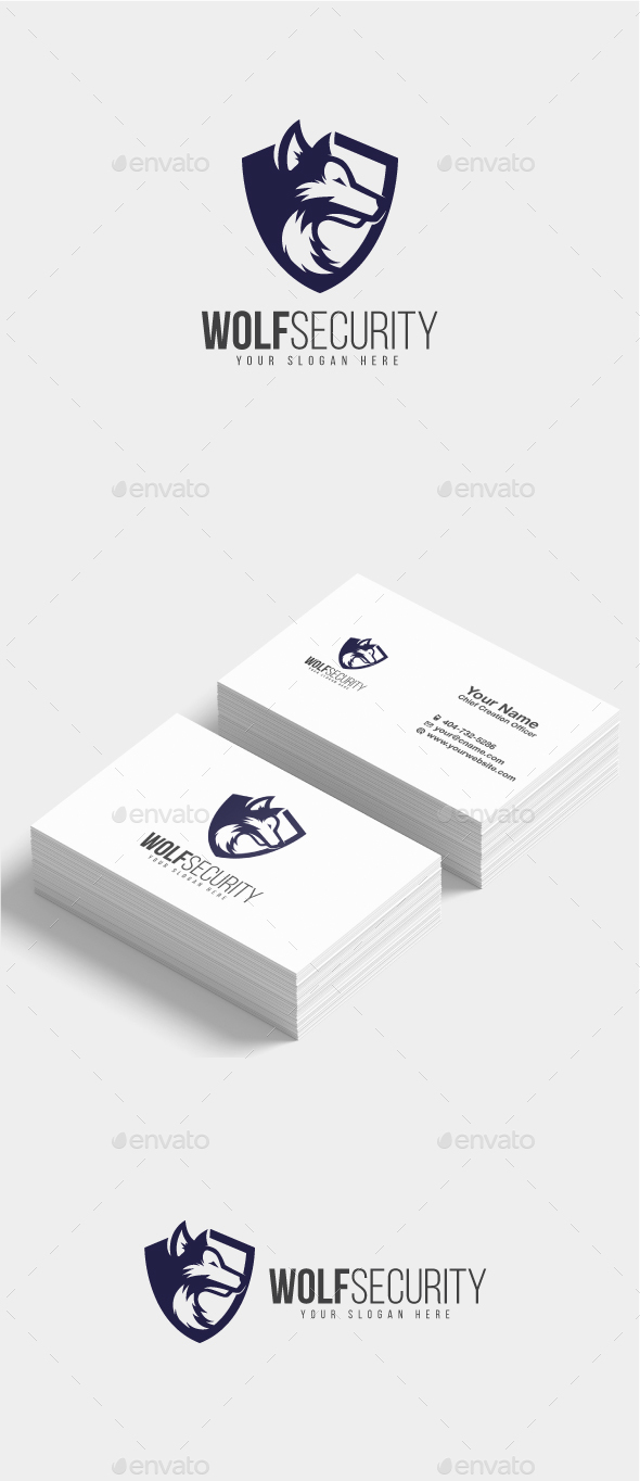 Wolf Security Logo - Animals Logo Templates