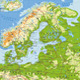Northern Europe Physical Map - GraphicRiver Item for Sale
