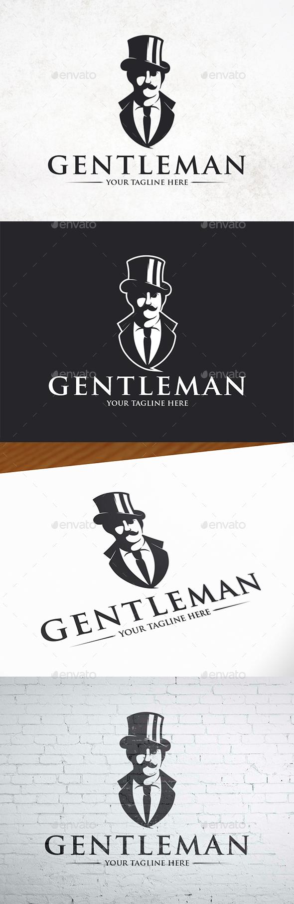Gentleman Logo Template - Humans Logo Templates