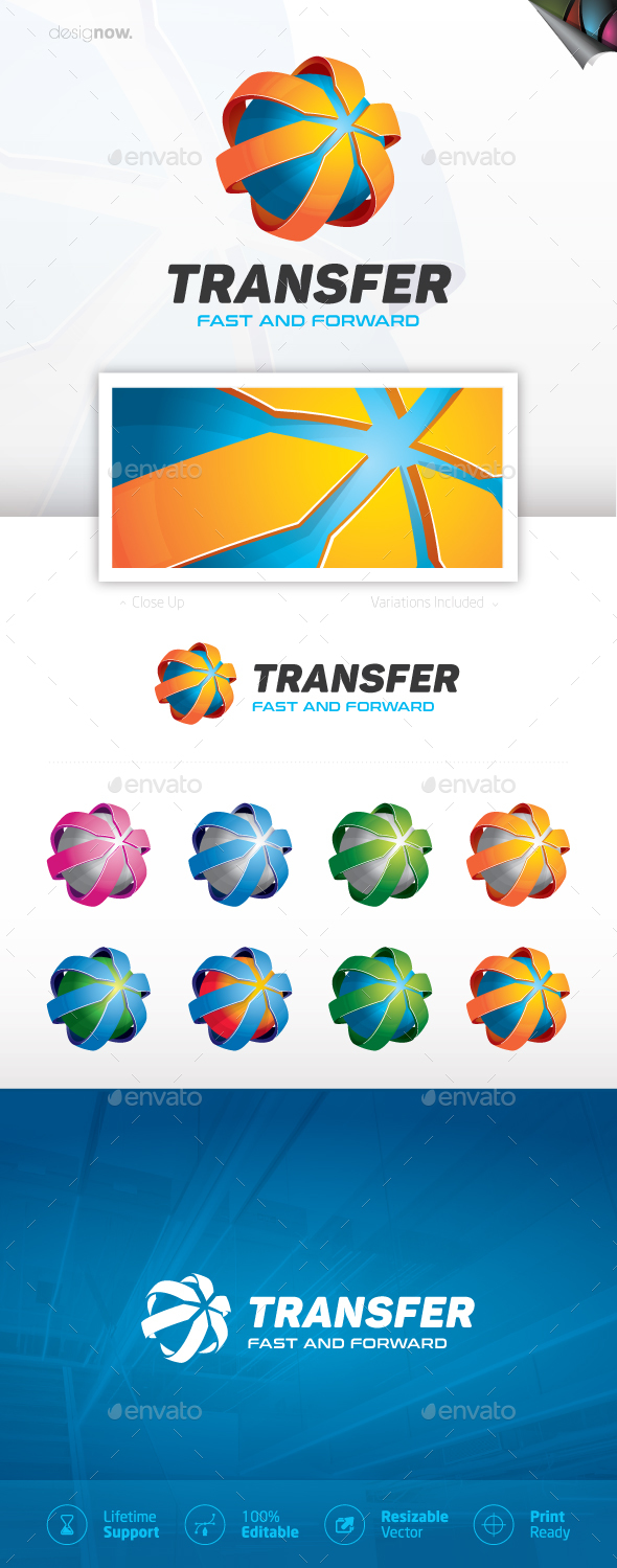 World Transfer Logo - Company Logo Templates