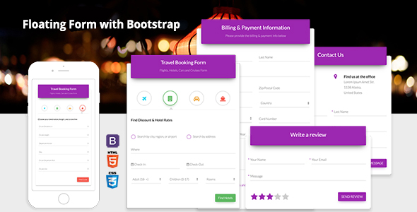 Floating Form with Bootstrap 4 - CodeCanyon Item for Sale