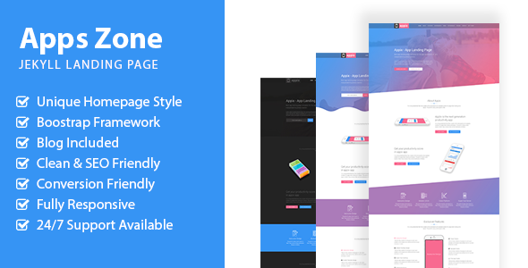 AppsZone - Jekyll App Landing Page