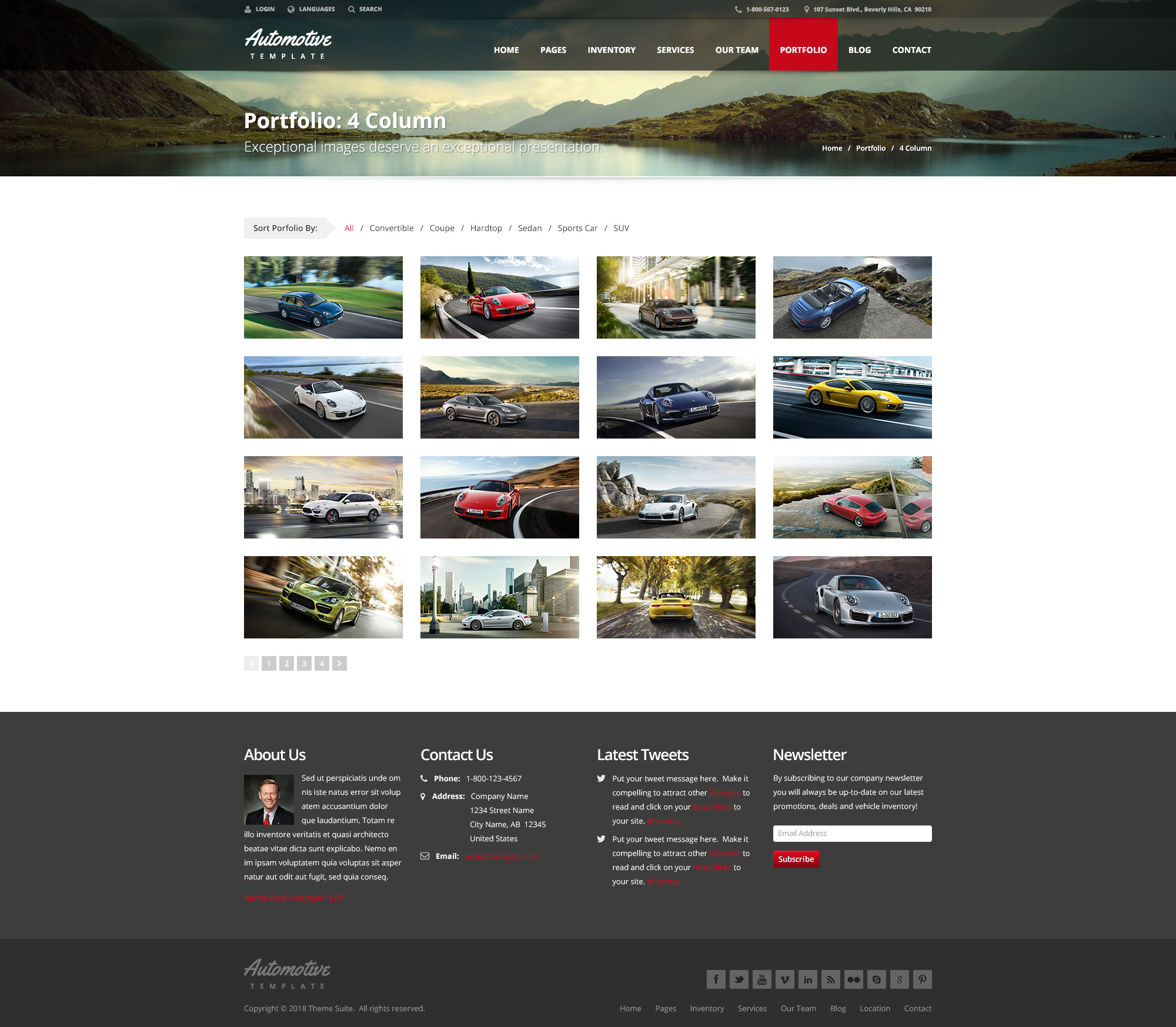 Automotive Car Dealership Business WordPress Theme by themesuite ...