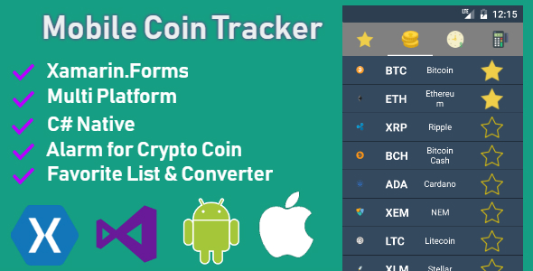 Mobile Coin Tracker - CodeCanyon Item for Sale