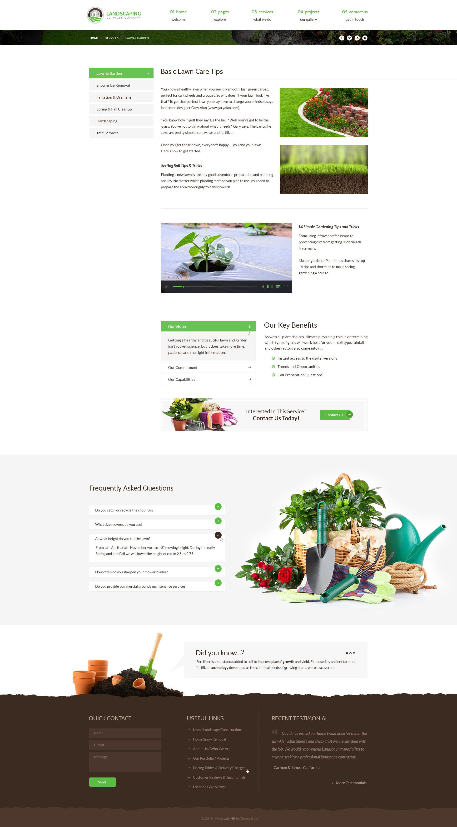 Landscaping Lawn Garden Landscape Construction Snow Removal - Snow plowing flyer template
