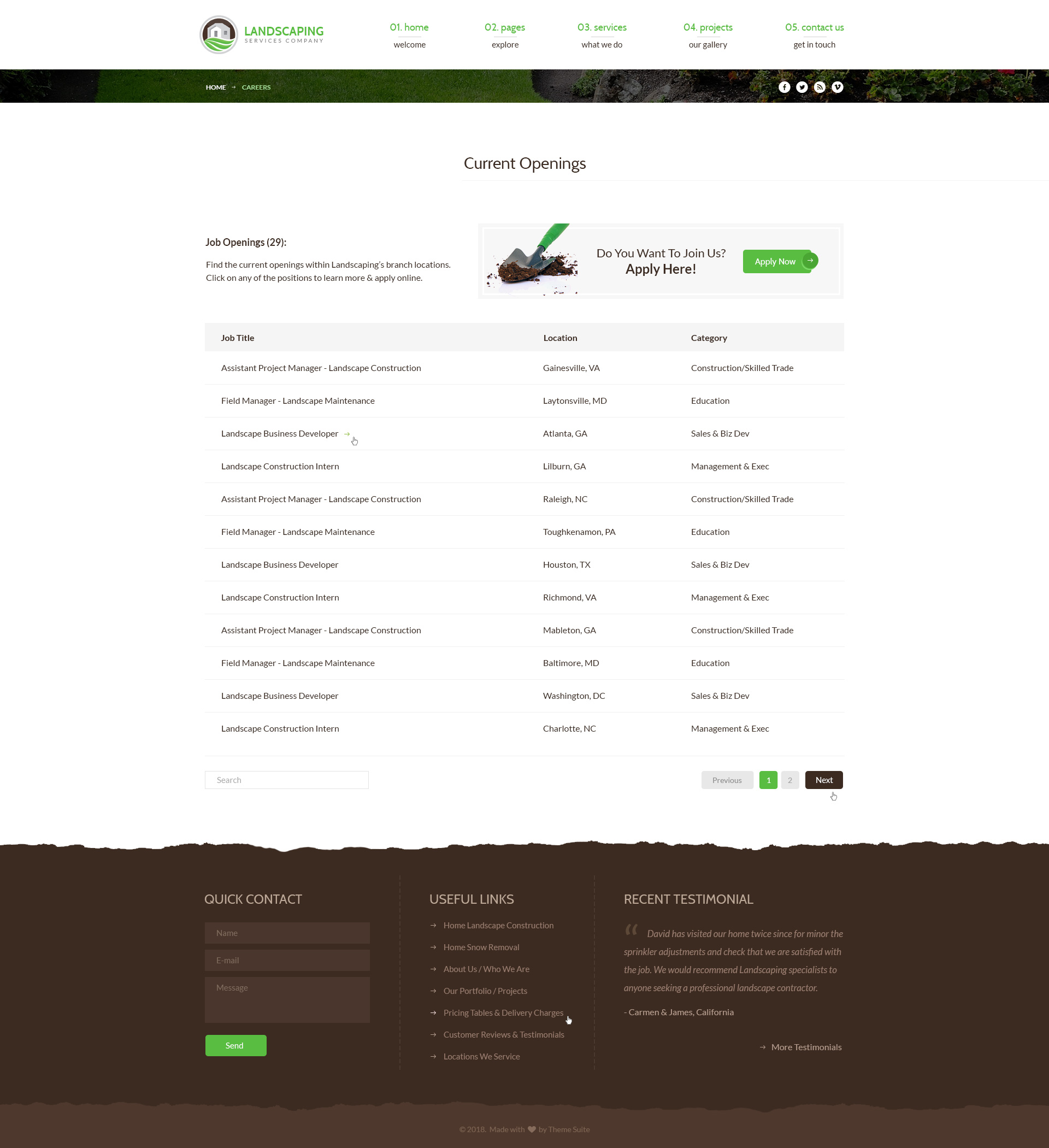 Landscaping - Lawn & Garden, Landscape Construction, & Snow Removal  WordPress Theme