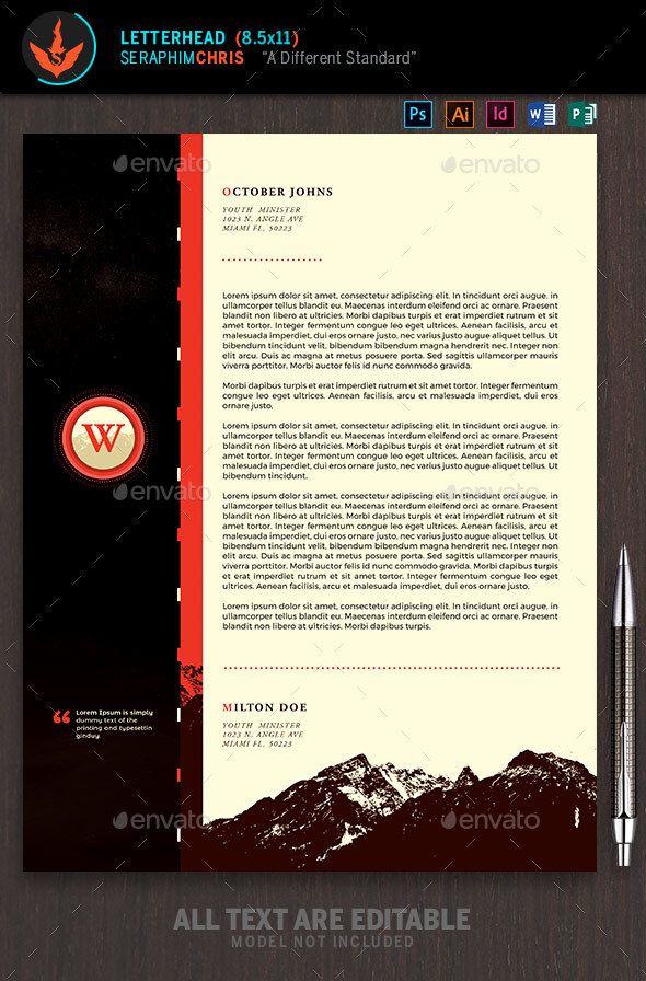 King Church Letterhead Template - Stationery Print Templates