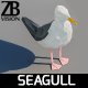 Lowpoly Seagull 001 - 3DOcean Item for Sale