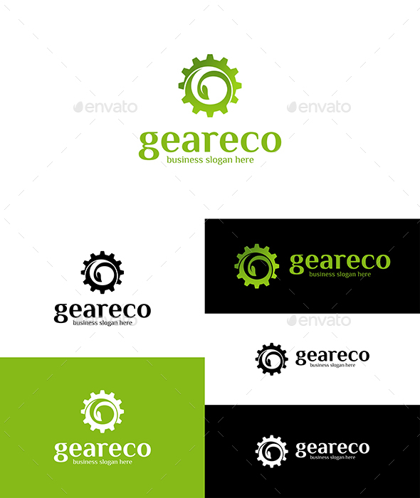 Gear Eco Logo - Nature Logo Templates