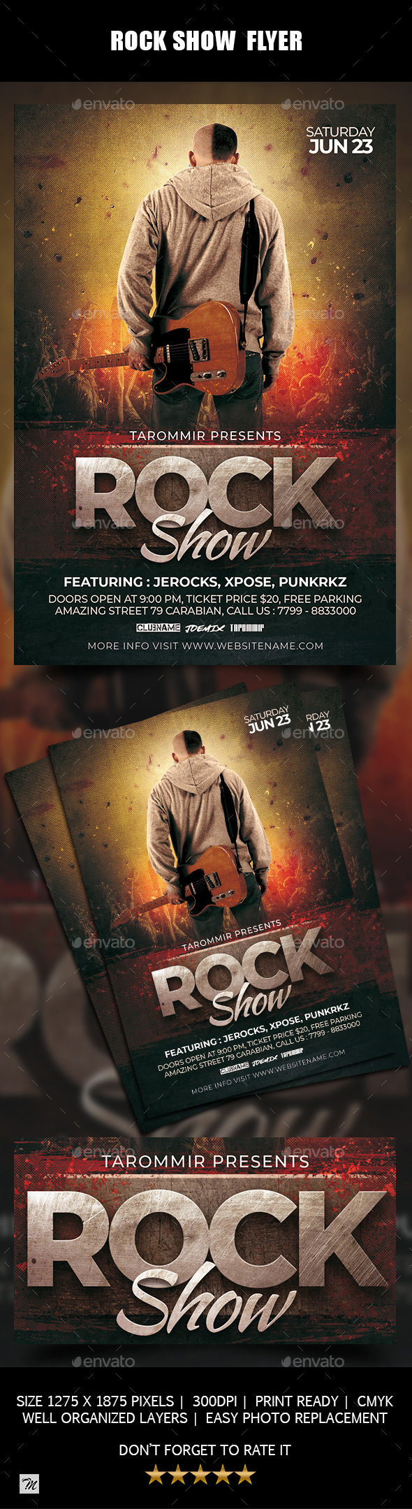 Rock Show Flyer - Concerts Events