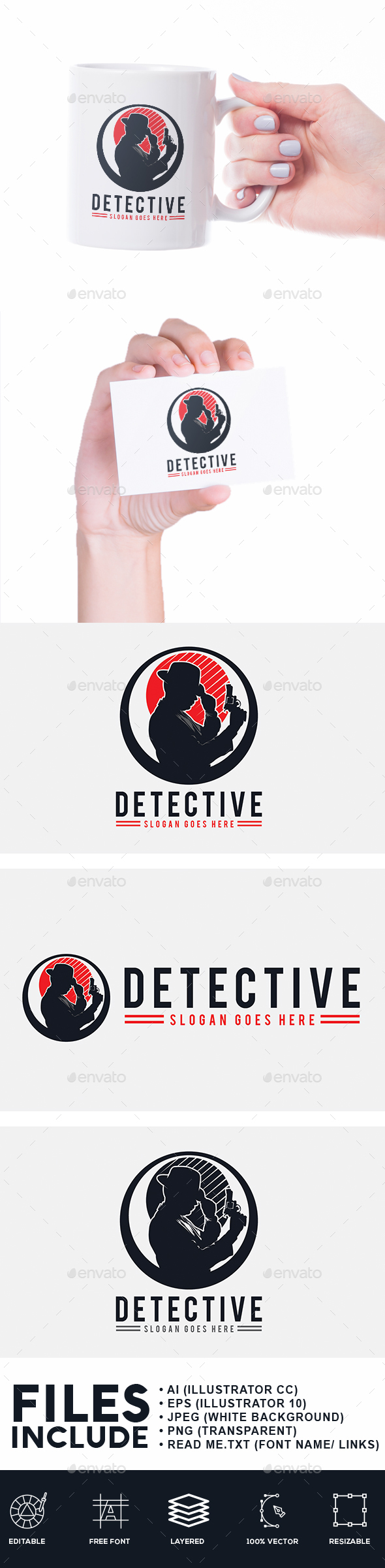 Detective Logo - Humans Logo Templates