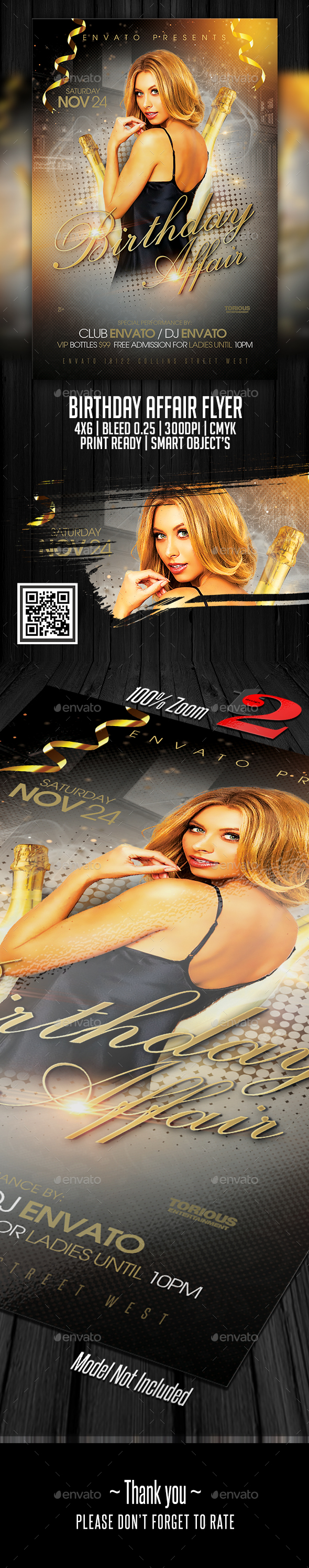 Birthday Affair Flyer Template - Clubs & Parties Events