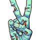 Zombie Peace Sign - GraphicRiver Item for Sale