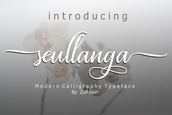 Seullanga script font - Script Fonts