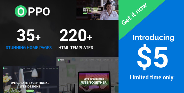 ThemeForest Oppo The Responsive Multi-Purpose HTML Template 21146953