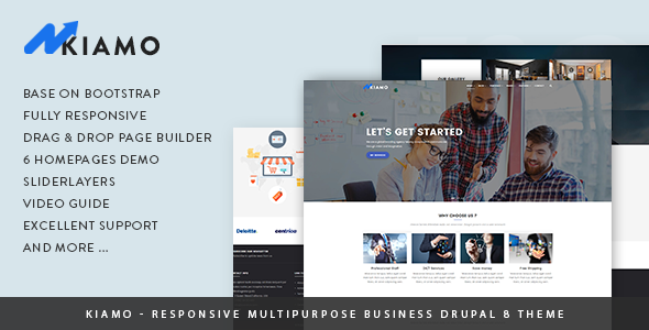 Image of Kiamo - Responsive Business Service Drupal 8 Theme