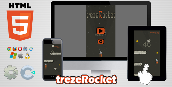 trezeRocket - HTML5 Skill Game - CodeCanyon Item for Sale