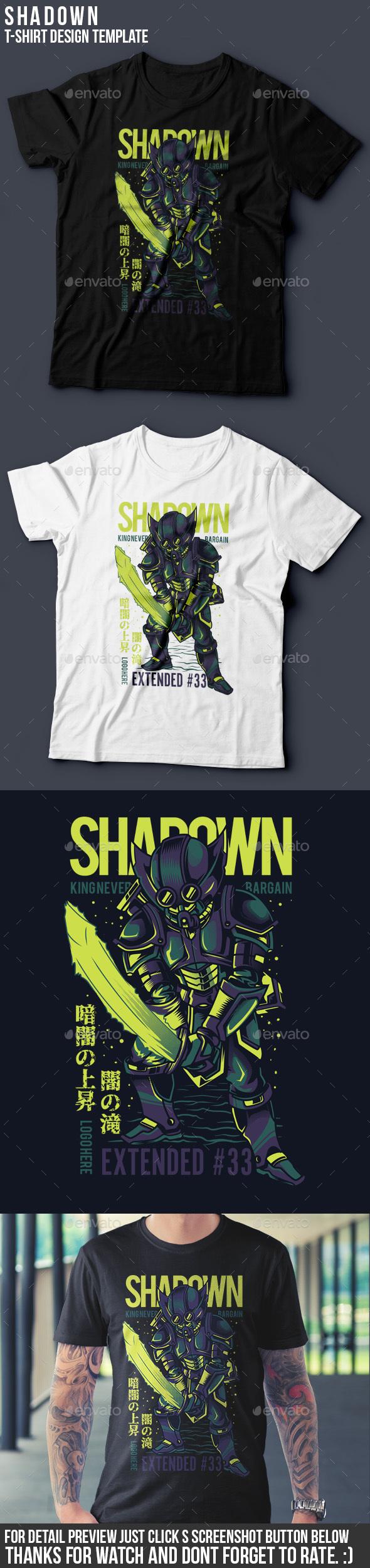 Shadown T-Shirt Design - Grunge Designs
