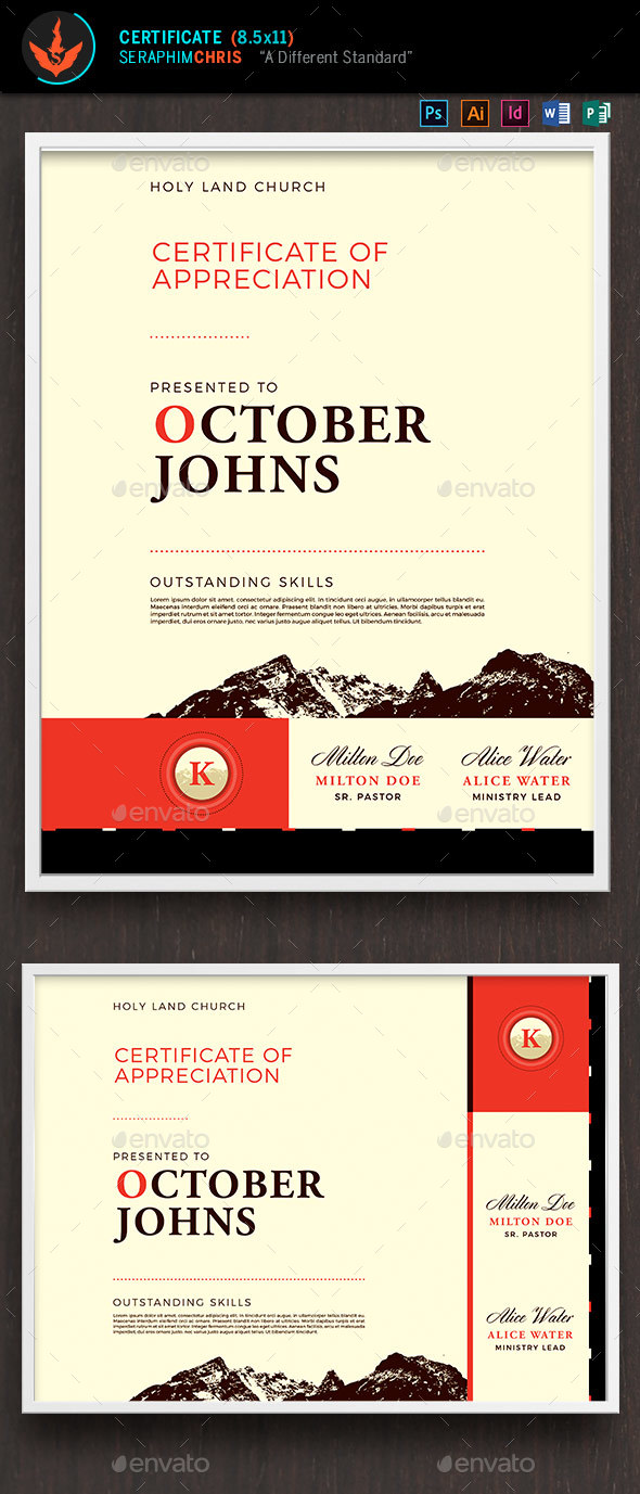 King Modern Church Certificate Template - Certificates Stationery