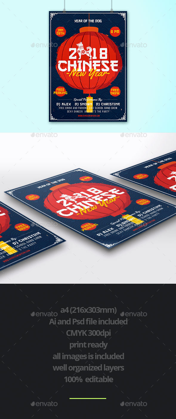 Chinese New Year - Flyers Print Templates