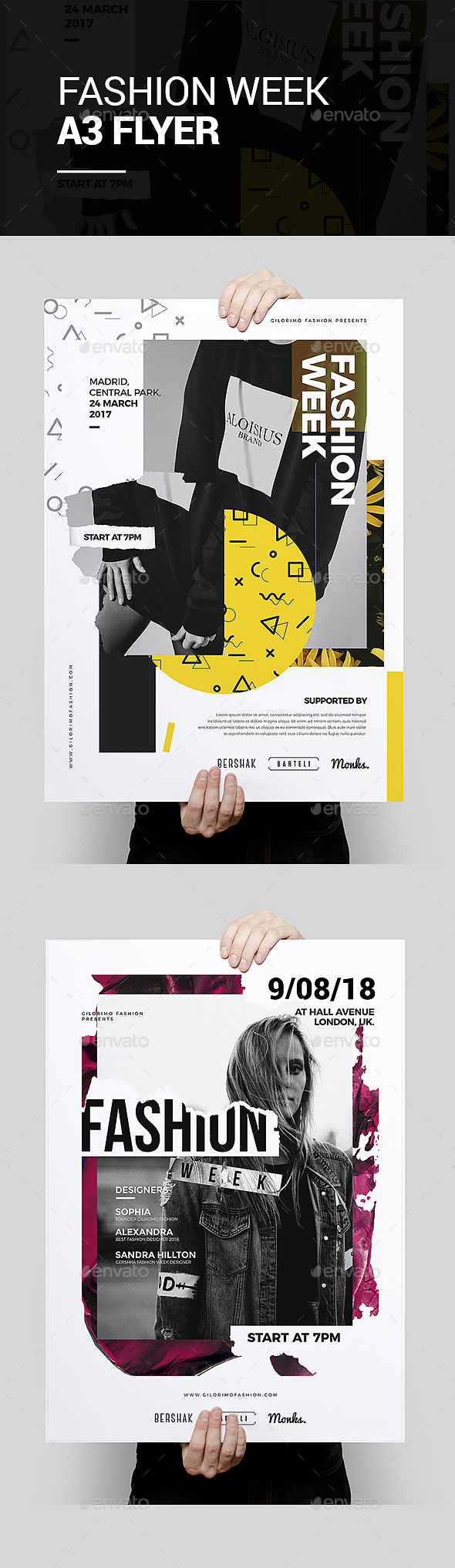 Fashion Week Flyer Poster Template - Events Flyers