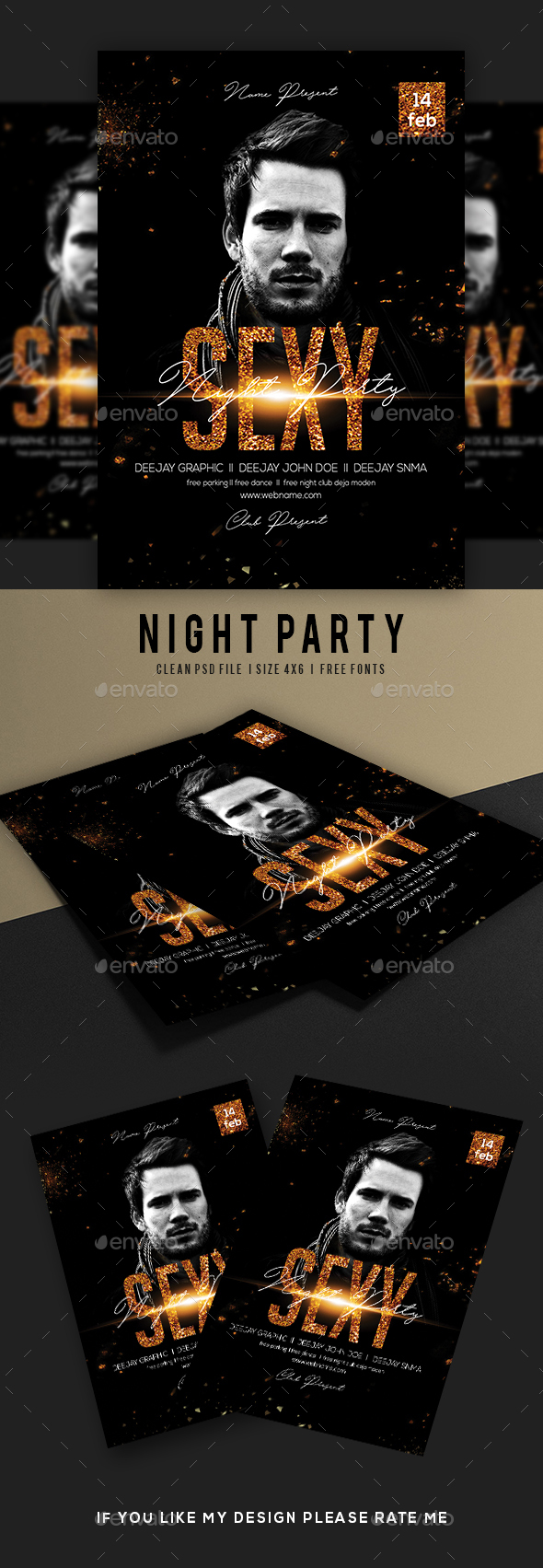 Sexy Night Party Flyer - Events Flyers