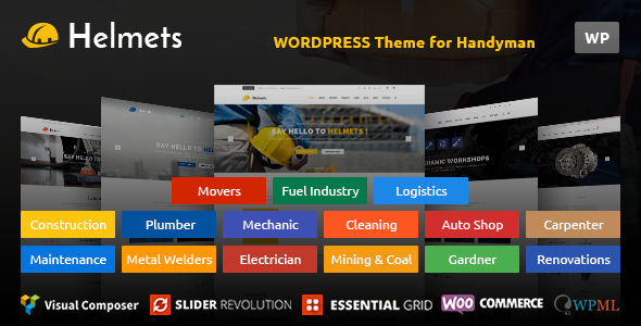 Helmets - WordPress Theme for Handyman - Business Corporate