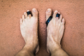 From above damaged feet of freediving man. - PhotoDune Item for Sale