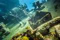 Shipwreck underwater at the depth in Caribbean. - PhotoDune Item for Sale