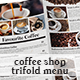 Coffee Shop Tri-fold Menu - GraphicRiver Item for Sale