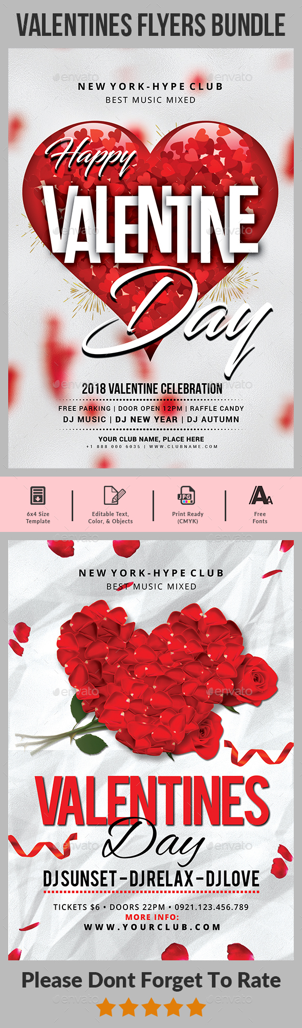 Valentines Day Flyer Bundle - Clubs & Parties Events