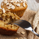 Fresh muffins with oatmeal baked with wholemeal flour and ears of rye grain - PhotoDune Item for Sale
