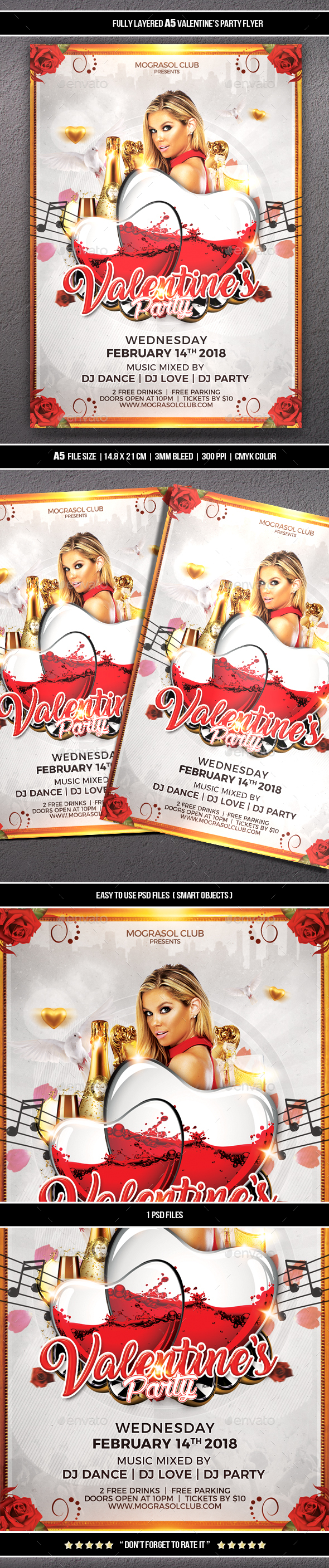 Valentines Party Flyer - Clubs & Parties Events