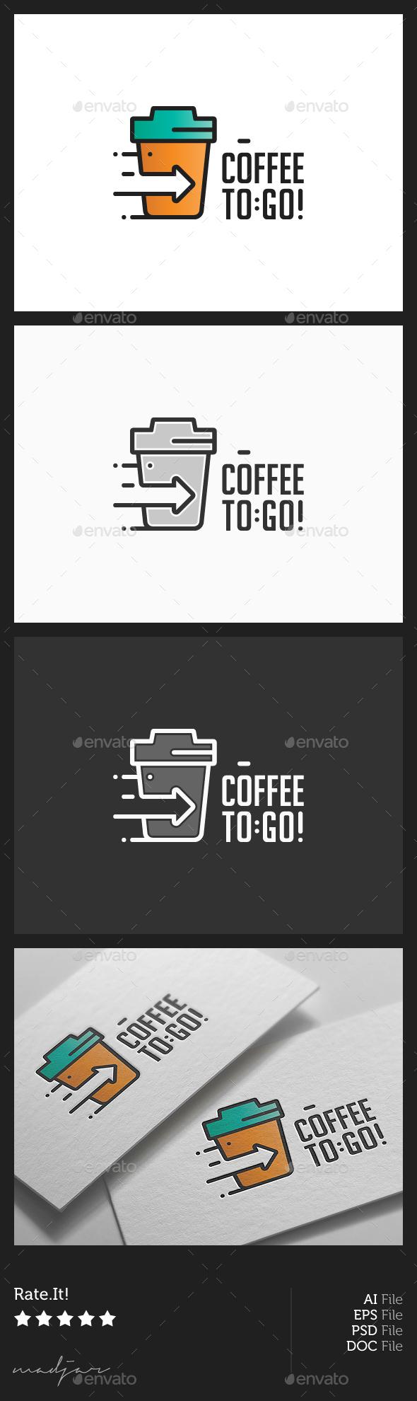Coffee To Go Logo - Food Logo Templates