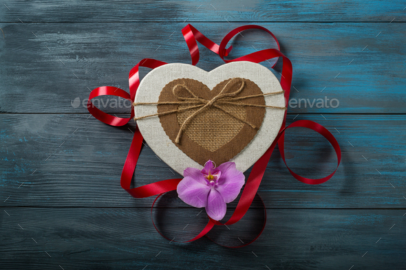 Gift box in heart shape - Stock Photo - Images