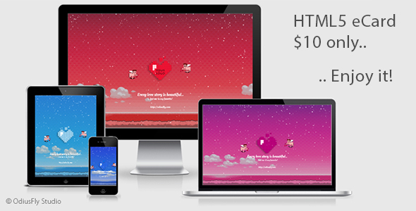 CodeCanyon Valentines Pixelated Card v1 21245464