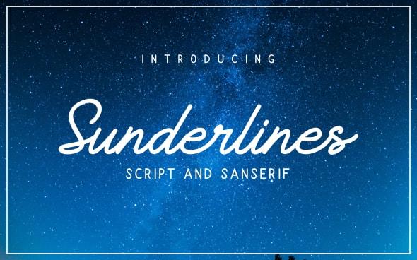 Sunderlines - Script and Sanserif - Cursive Script