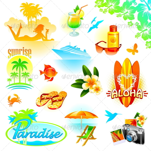 Tropical Resort, Travel and Exotic Holidays - Travel Conceptual