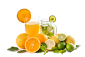 fresh orange juice and classic mojito with orange, lime, and min - PhotoDune Item for Sale