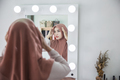 woman wearing hijab in the mirror - PhotoDune Item for Sale