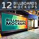 Billboards Mockups at Night Vol.3
