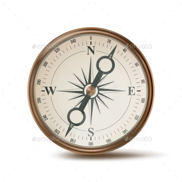 Compass Vector - Man-made Objects Objects