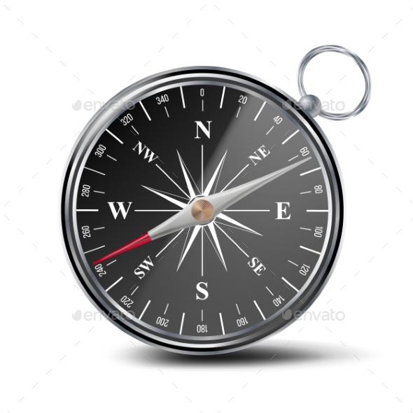 Antique Compass Vector - Man-made Objects Objects