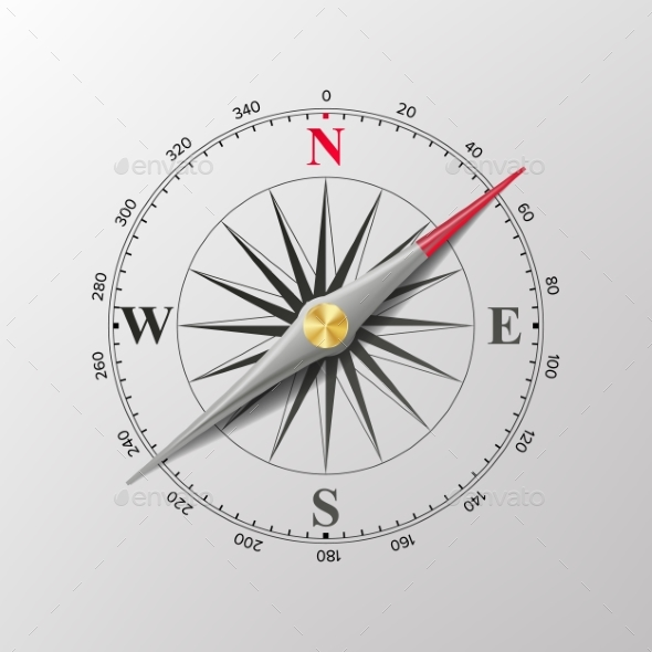 Compass Wind Rose Vector - Man-made Objects Objects