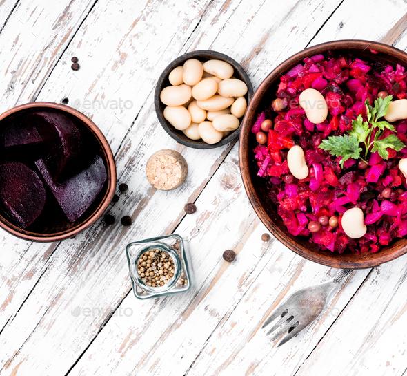 russian salad vinaigrette - Stock Photo - Images