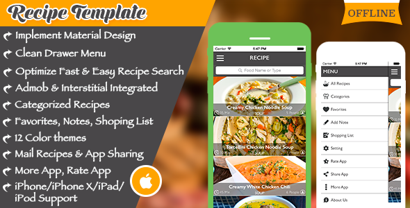 Multi purpose recipe template for ios by expresstemplate codecanyon multi purpose recipe template for ios codecanyon item for sale forumfinder Choice Image