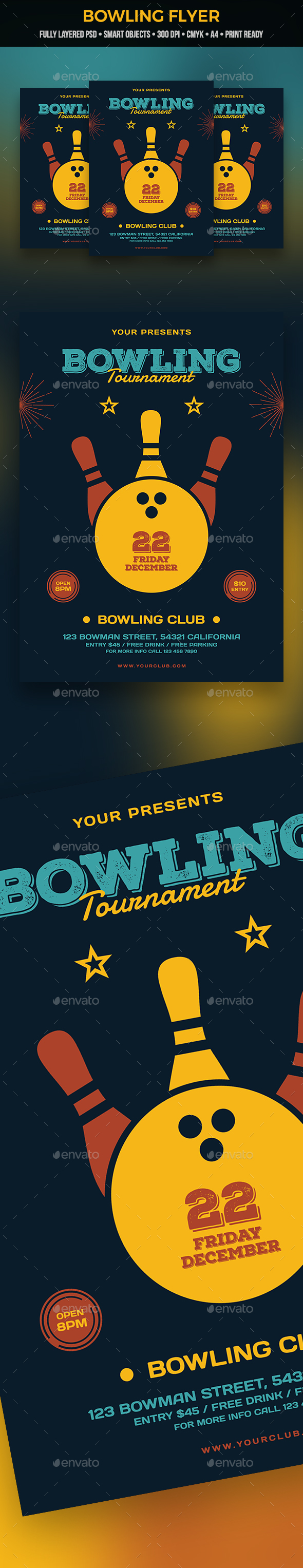 Bowling Flyer - Clubs & Parties Events