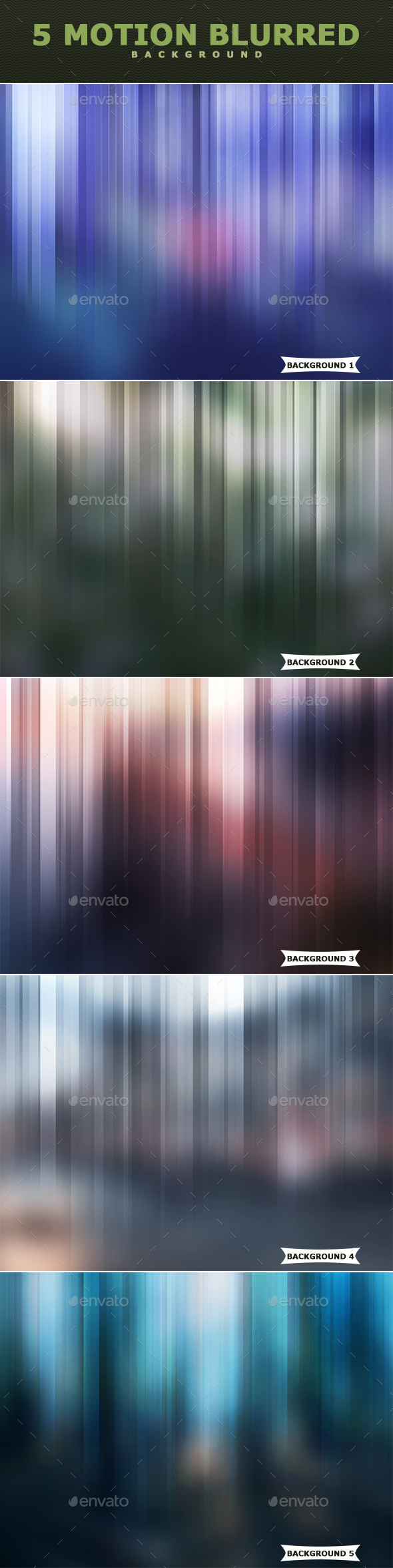 Motion Blurred Backgrounds - Abstract Backgrounds