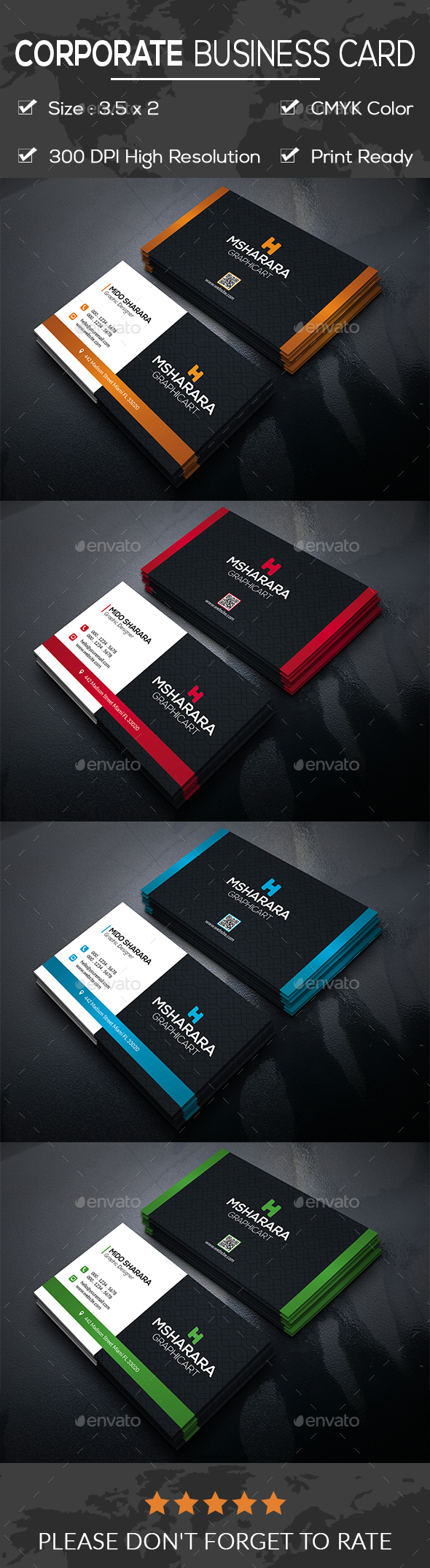 Corporate Business Card - Business Cards Print Templates